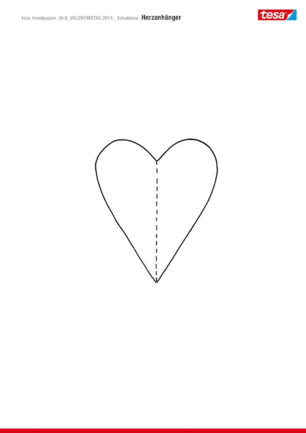 Herzige Anhänger für den Valentinsstrauß - tesa