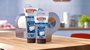 How to use tesa® Mounting Glue for Tiles & Metal 14kg/cm2.