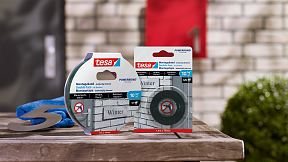 How to use tesa® Mounting Tape for Brick & Stone 10kg/m.