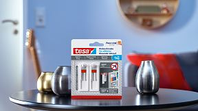 How to use the tesa® Adjustable Adhesive Screw for Wallpaper & Plaster 1kg.