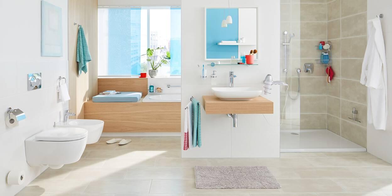 Selbstklebende Lösungen für Badezimmer-Accessoires - tesa