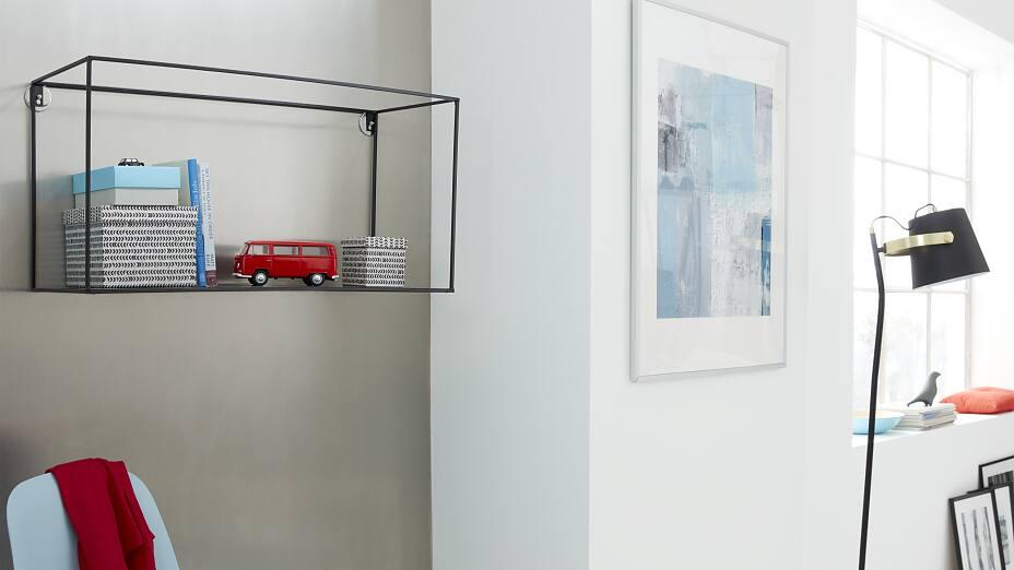 draht wandregal befestigen ohne bohren tesa. Black Bedroom Furniture Sets. Home Design Ideas