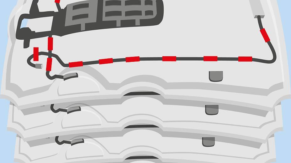 Befestigung von Kabeln im Fahrgzeuginnern - tesa