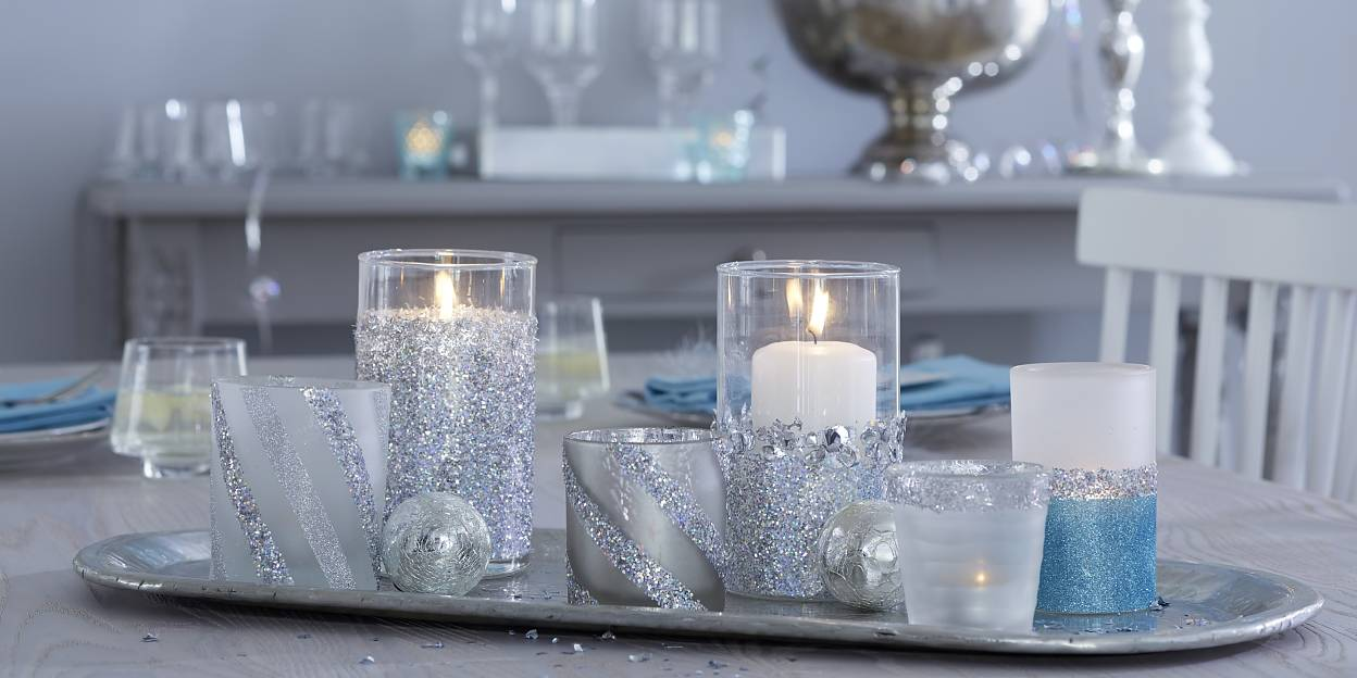 Simply fabulous: Disco Fever! Let's spend a glamorous New Year's Eve at home. These candle jars not only look great, but can also be created in no time.