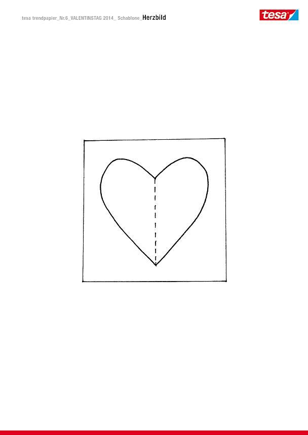 Ich schenke dir ein Herzbild zum Valentinstag! - tesa