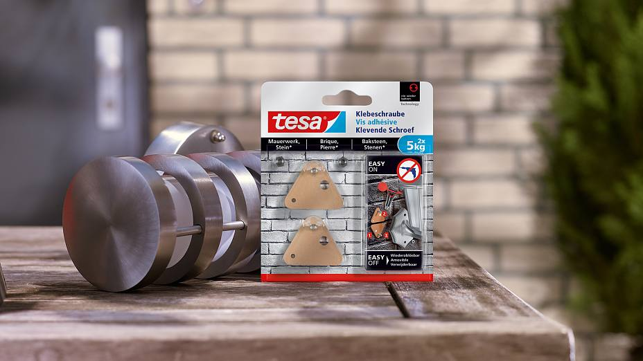 How to use the tesa® Adhesive Screw Triangular for Brick & Stone 5kg.