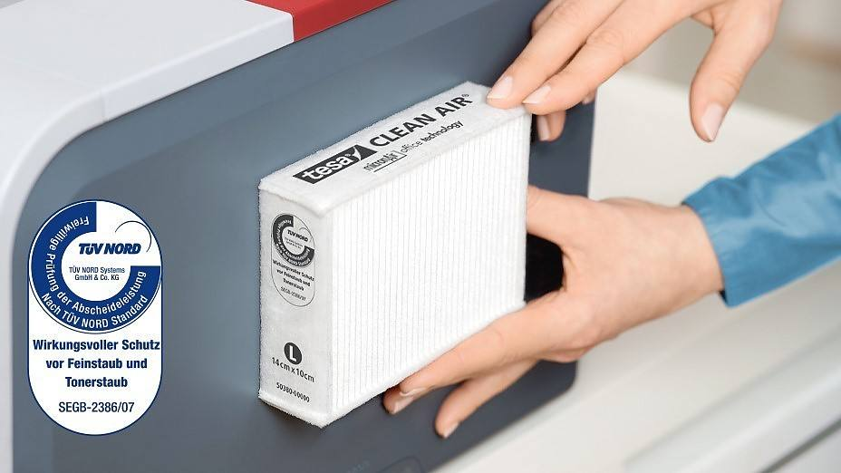 tesa Clean Air Feinstaubfilter fr Laserdrucker - tesa
