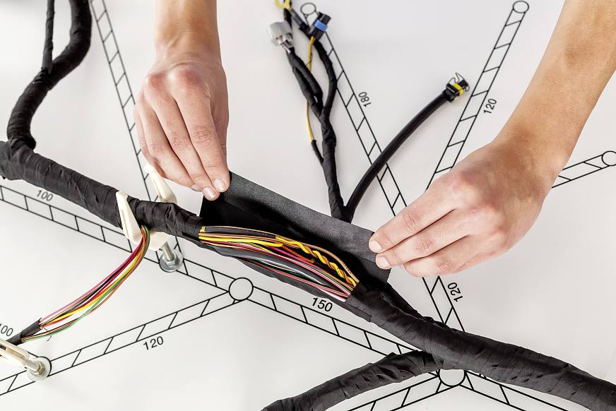 wire harnessing tapes for bundling and protection. Black Bedroom Furniture Sets. Home Design Ideas