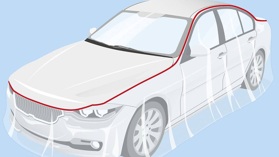 High-temperature car body masking