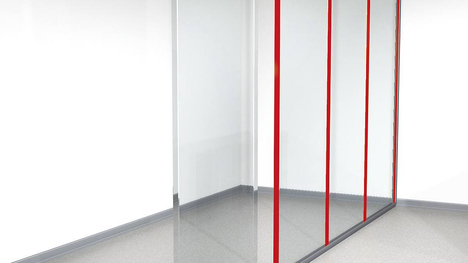 I-profiles for glass partitions