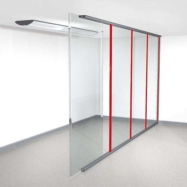 Tape solutions for I-profiles for office partitions