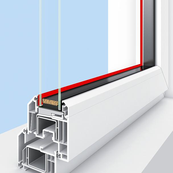 Dry glazing in PVC windows