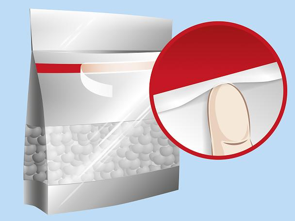 Double Sided Tape For Reclosure Of Bags And Packets That
