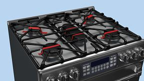During transport the metal hob is kept in place by using adhesive tape.