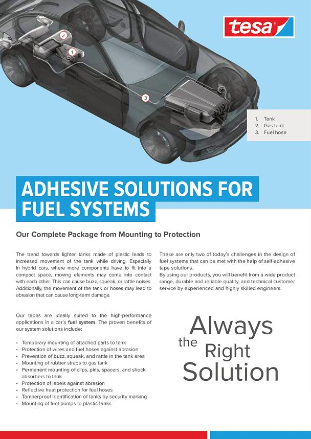 Adhesive tape solutions for fuel systems - tesa