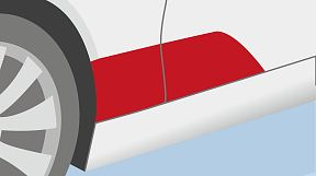Protection of wheel arch and door edge