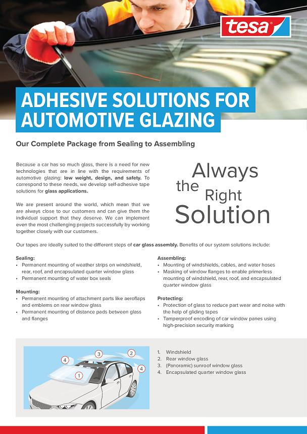 Adhesive Tape Solutions For Automotive Glazing Tesa