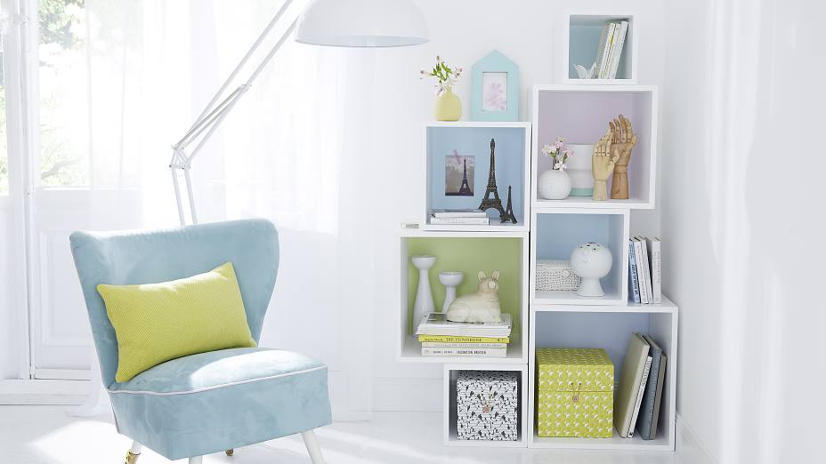 Beautify your shelves with color