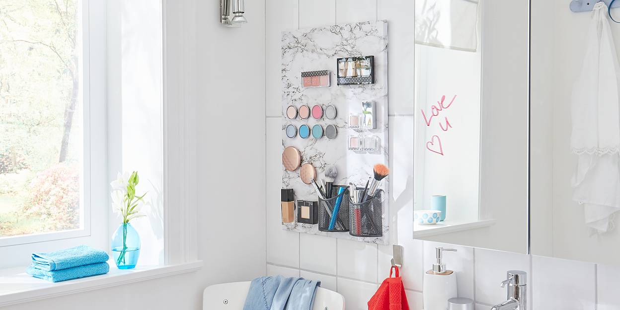 Magnetic board to organise your make-up!