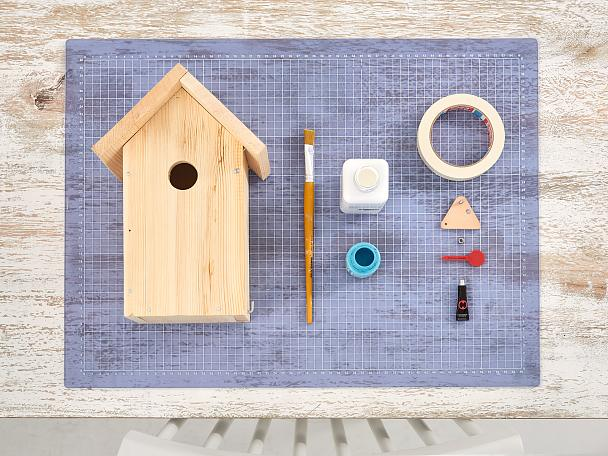 Painted Wooden Bird Houses Tesa