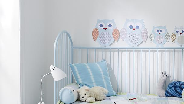 Baby wall decoration: Owls