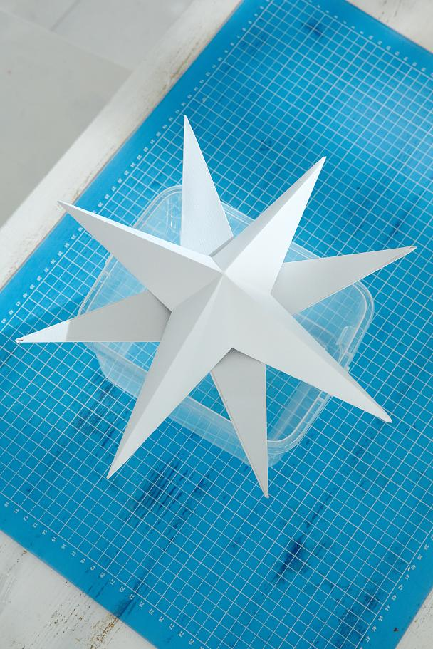 DIY Paper Stars / Step 14: Glue stars to each other according to the markings