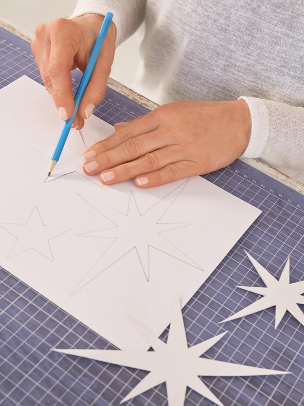 Cut out stars and transfer them