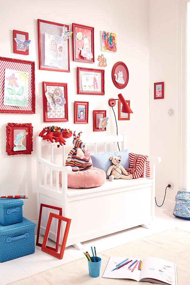 Let the kids enjoy their own DIY gallery wall!