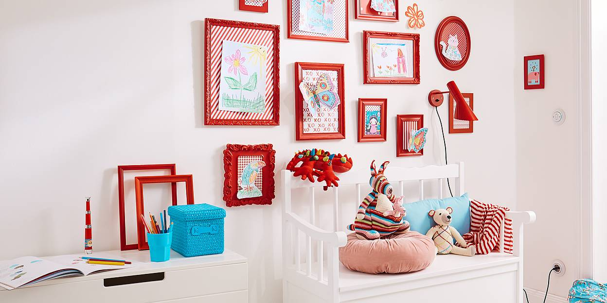 Wall Art for children using a colorful gallery