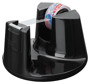 The black tesa® Easy Cut Compact desktop dispenser, introduced in winter 2012, is the perfect marriage of form and function. The handy dispenser is easy to use with just one hand.