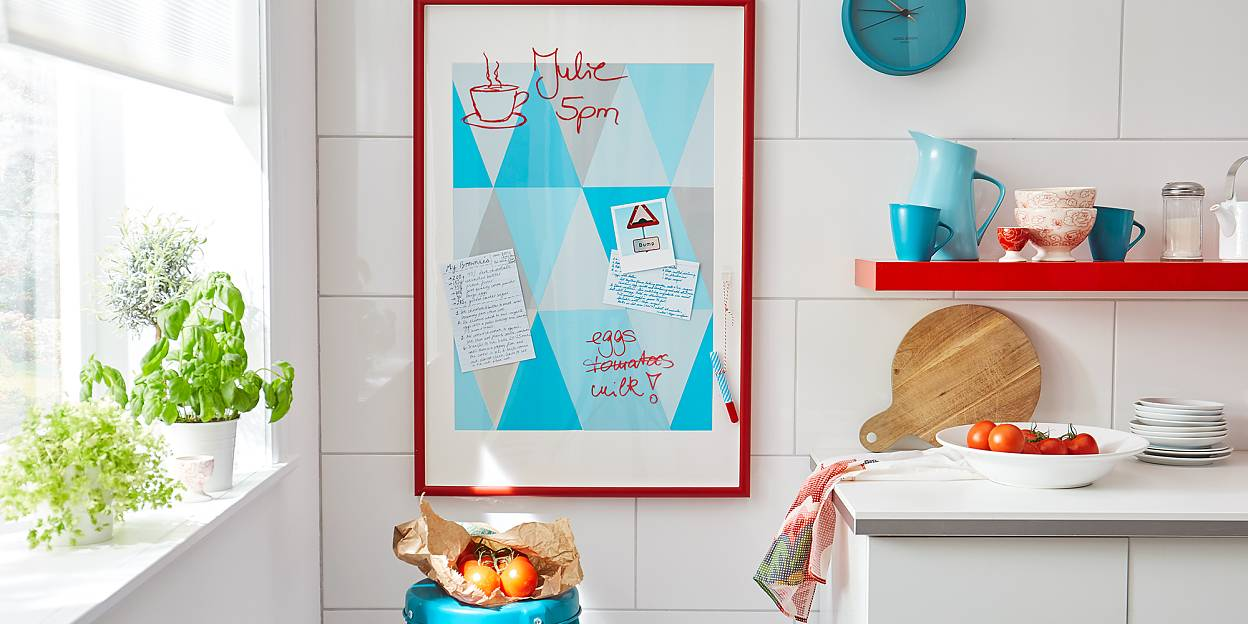 Keep papers in order with a memo board
