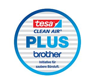 A joint seal marks the cooperation between tesa Clean Air® and printer manufacturer Brother.
