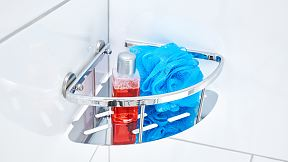 Sort your everyday bathroom supplies within reach and in style.