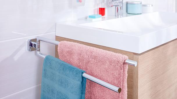Keep your towels close to where you need them and give them space to dry after use.