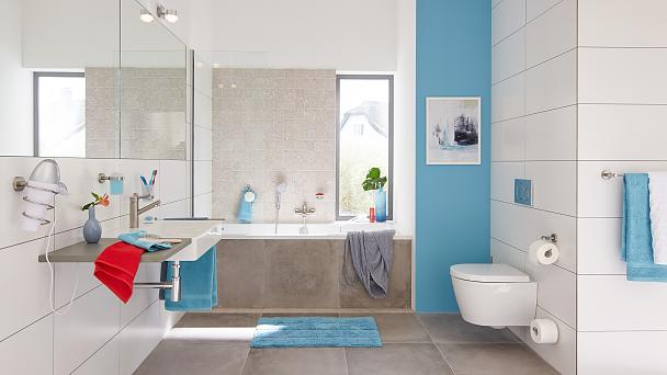 Modern design that provides space and structure in your bathroom.