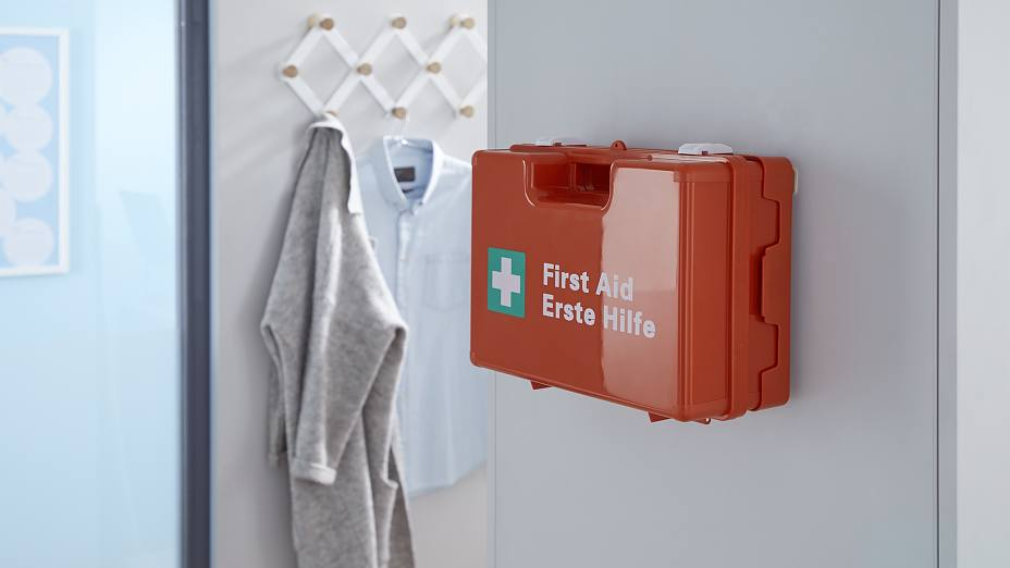 Wall Mounted First Aid Kit Mounting Without Drilling Tesa