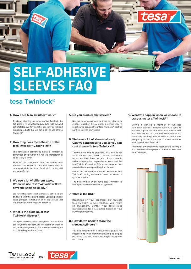 Self Adhesive Plate Mounting Sleeves Tesa