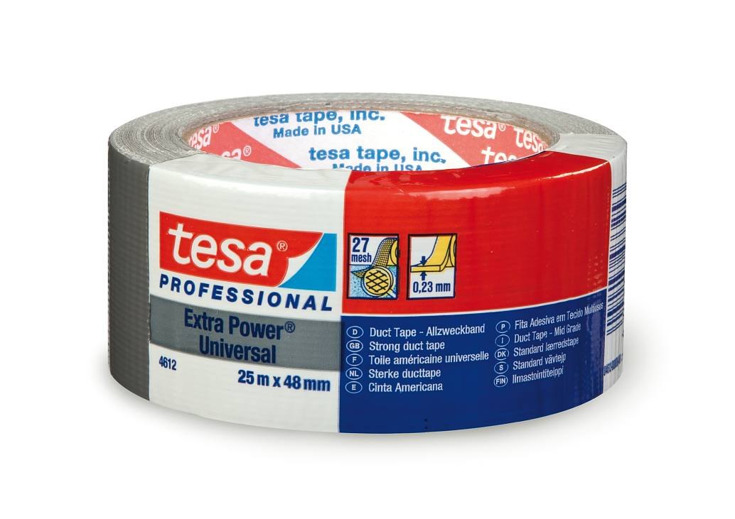 TESA 4688 Tape Canvas Coated Polyethylene Red//Yellow//Green//Brown 25mt