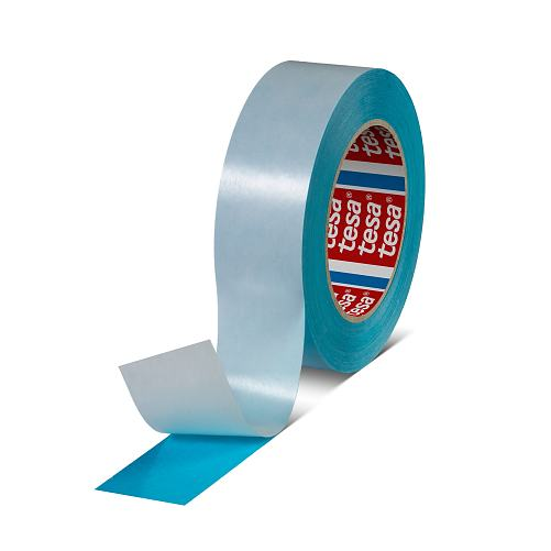 tesa 61914 repulpable double sided splicing tape blue 619140000400