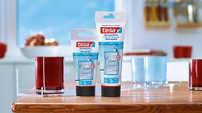 How to use tesa® Mounting Glue for Transparent & Glass 10kg/cm2.