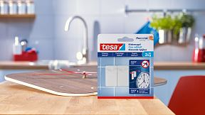 How to use the tesa® Adhesive Nail for Tiles & Metal 2kg.