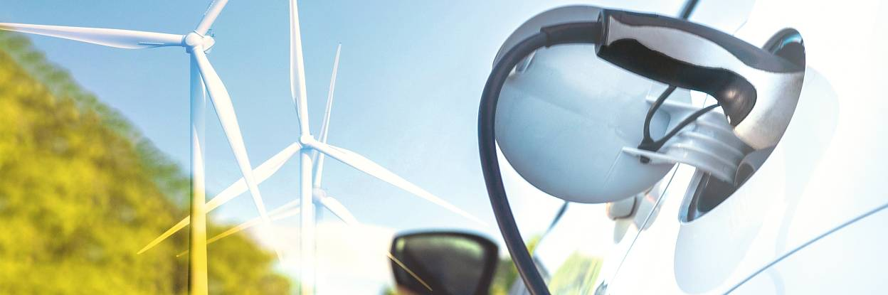 Elektriauto laadimine tuuleenergia abil toodetud elektriga