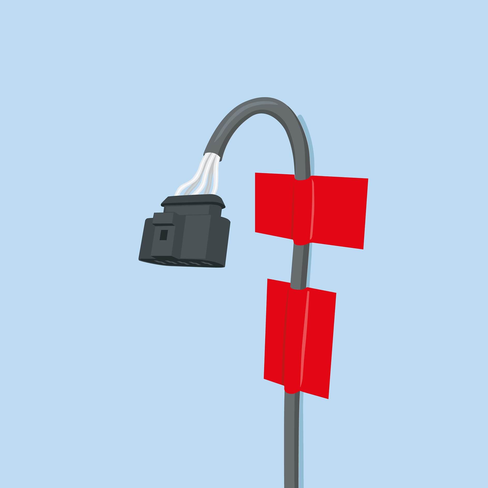 Kabelmanagement - Klebebänder für die Befestigung und Bündelung ...