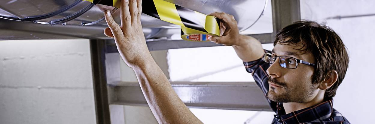 Professional hand tearable, robust marking and warning tapes with high adhesive strength.