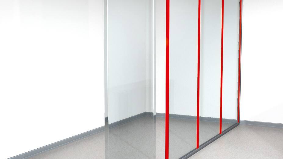 Solutions de fixation de cloisons amovibles et transparentes par tesa