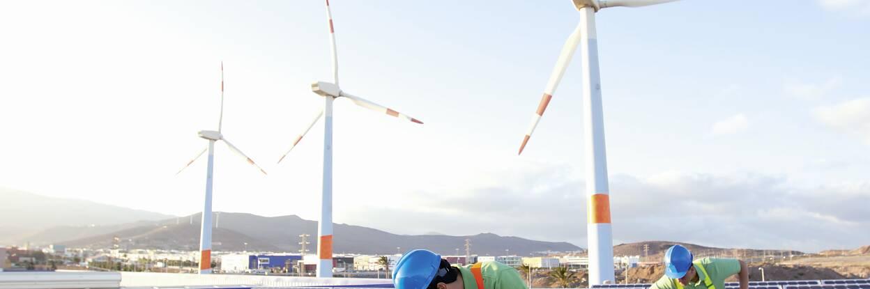 Industrie de l'énergie solaire et éolienne