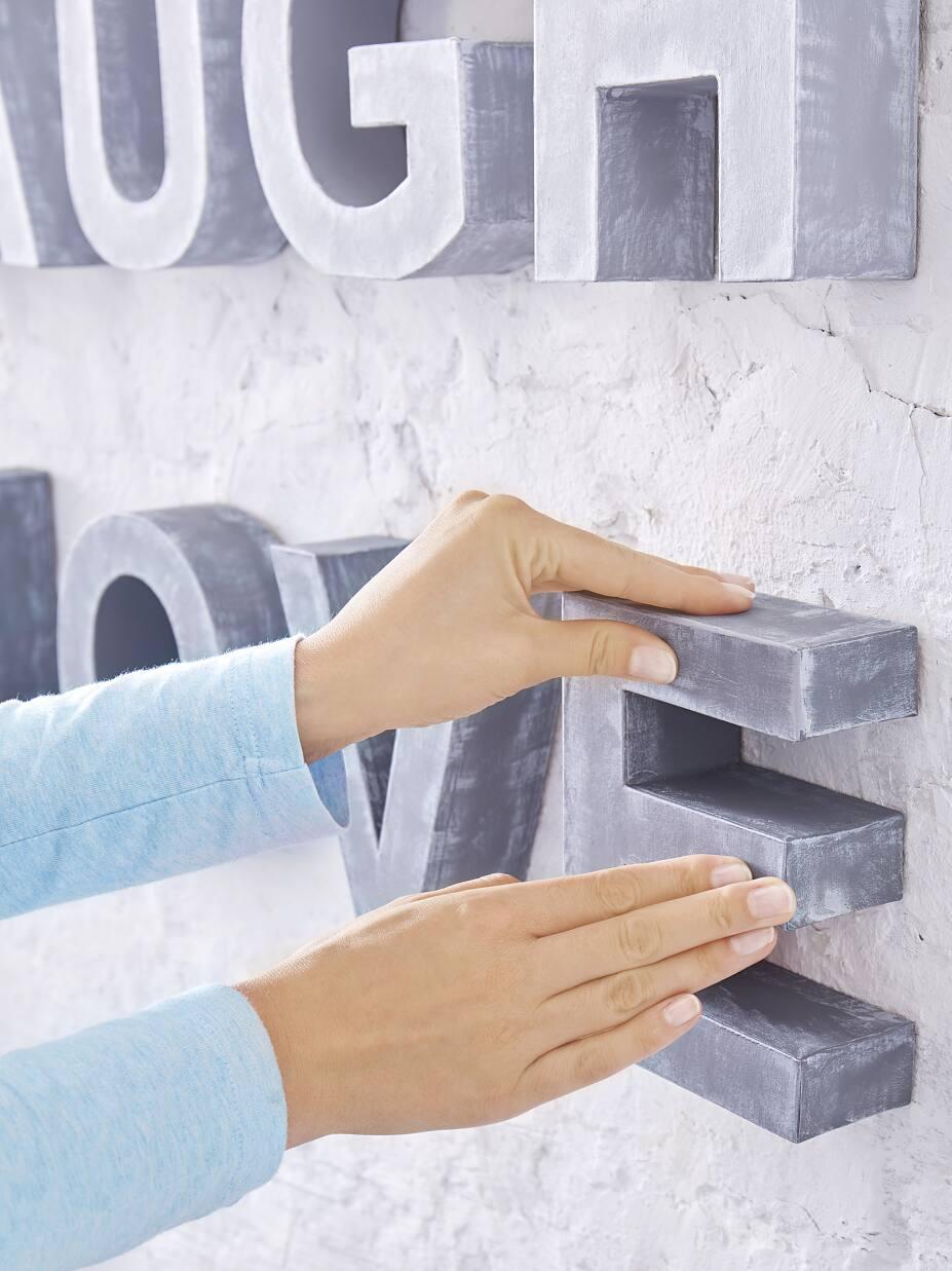 Lettere Da Appendere Al Muro lettere shabby chic da appendere al muro - tesa