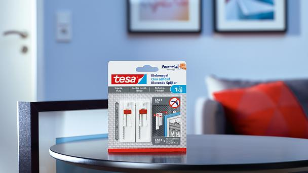 How to use the tesa® Adjustable Adhesive Nail for Wallpaper & Plaster 1kg.