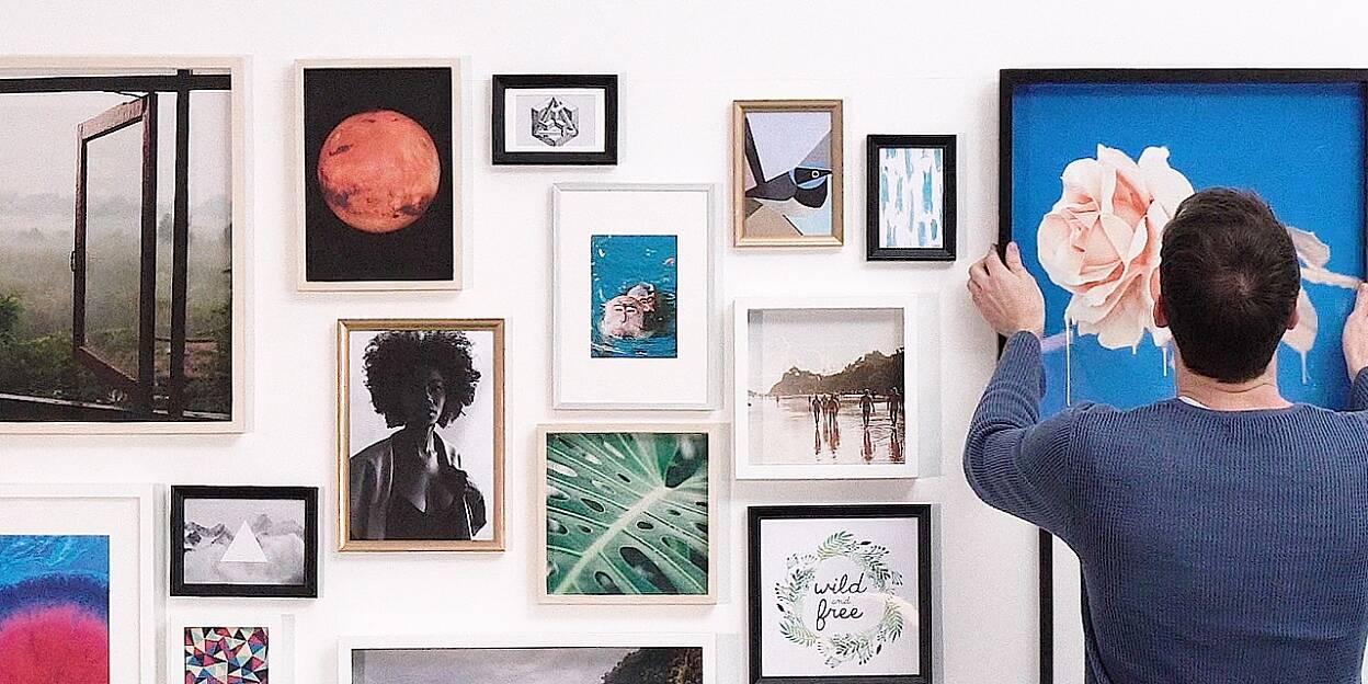 Quadretti Fai Da Te 8 modi per appendere i quadri e come è facile realizzarli - tesa