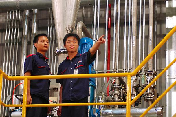 Workers at tesa Plant Suzhou, China